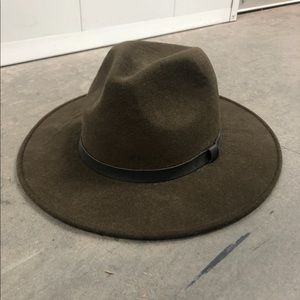 Green Wool Fedora